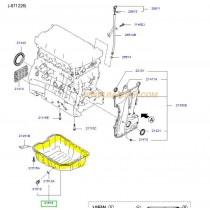 КАРТЕР ДВИГАТЕЛ  2.0L (G4KA/G4KD) SONATA/MAGENTIS/SPORTAGE/iX35/CARENS 2151025001