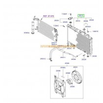 РАДИАТОР ВОДЕН (M/T)  ELANTRA 2.0 -06) DIESEL/GAS 253102D400