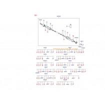 ПОЛУОСКА ДЯСНА+КАРЕТА (4WD)(6M/T)  TUCSON 2.0 TCI (05-10) 495002E850