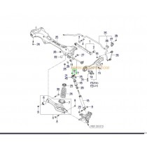 ЩАНГА ЗАДНА НАПРЕЧНА РЕГЛАЖНА С ШАРНИР  i30/CEE'D -12), MAGENTIS(06-10), CARENS(06-12) 552502H000