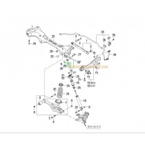 ВТУЛКА ТАМПОН ЩАНГА ЗАДНА НАПРЕЧНА (реглажна) (2WD)  i30/CEE'D -12), MAGENTIS (05- 552561H000