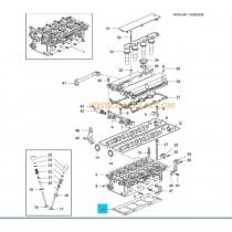 ГАРНИТУРА ГЛАВА  1.4/1.6/1.8L (LDT,LDE,2H0) AVEO/CRUZE/ORLANDO (09-  /METAL/ 55355578