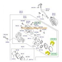 ПЛАСТИНА ПРУЖИНА НАКЛАДКИ ПРЕДНИ  SANTA FE (06-09) 581442B000