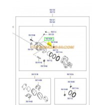 ВОДАЧ ПРЕДЕН СПИРАЧЕН АПАРАТ (B) (ГОРЕН)  i30/I40/iX20/iX35/CEE'D/SPORTAGE 581621H000