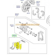 НАКЛАДКИ ЗАДНИ  SANTA FE (06-09), H-1/STAREX (05-07) SMB24464