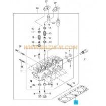 ГАРНИТУРА ГЛАВА  1.4/1.5L SOHC ESPERO/NEXIA/NEXIA/KALOS T=1.3mm. 96391433